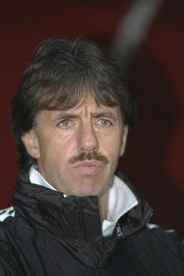 16 Nov 1996:  A portrait of Newcastle defensive coach Mark Lawrenson sitting in the dugout during Newcastle's league match against West Ham United at St.James'' Park in Newcastle. Mandatory Credit: Stu Forster/Allsport