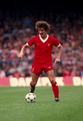 Sep 1981:  Terry McDermott of Liverpool in action during a Division One match against Ipswich Town at Anfield in Liverpool, England. \ Mandatory Credit: Allsport UK /Allsport