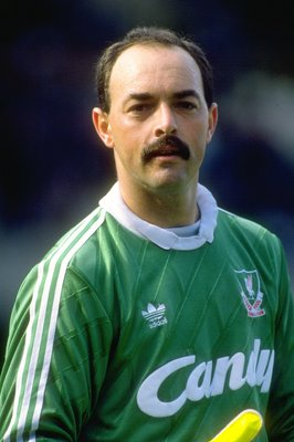 1991:  Portrait of Liverpool goalkeeper Bruce Grobbelaar during a match. \ Mandatory Credit: Ben  Radford/Allsport
