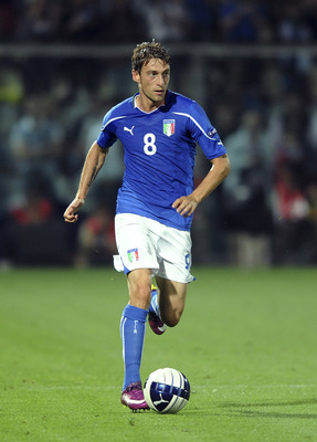 MODENA, ITALY - JUNE 03:  Claudio Marchisio of Italy in action  during the UEFA EURO 2012 Group C qualifying match between Italy and Estonia on June 3, 2011 in Modena, Italy.  (Photo by Dino Panato/Getty Images)