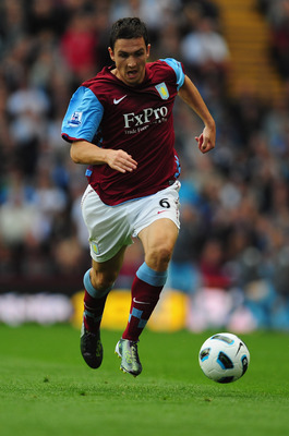 BIRMINGHAM, ENGLAND - AUGUST 14:  Stewart Downing of Aston Villa in action during the Barclays Premier League match between Aston Villa and West Ham United at Villa Park on August 14, 2010 in Birmingham, England.  (Photo by Jamie McDonald/Getty Images)