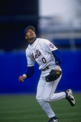 13 Apr 1997:  Infielder Rey Ordonez of the New York Mets in action during a game against the San Francisco Giants at Shea Stadium in Flushing, New York.  The Giants won the game, 7-6. Mandatory Credit: Rick Stewart  /Allsport