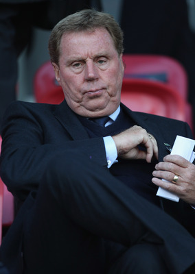 HERNING, DENMARK - JUNE 12:  Harry Redknapp manager of Tottenham Hotspur looks on during the UEFA European Under-21 Championship Group B match between England and Spain at the Herning Stadium on June 12, 2011 in Herning, Denmark.  (Photo by Michael Steele