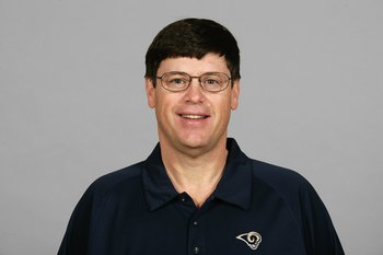 ST. LOUIS - 2008:  Jim Chaney of the St. Louis Rams poses for his 2008 NFL headshot at photo day in St. Louis, Missouri.  (Photo by Getty Images)