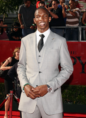 LOS ANGELES, CA - JULY 15:  NBA player Hasheem Thabeet arrives at the 2009 ESPY Awards held at Nokia Theatre LA Live on July 15, 2009 in Los Angeles, California. The 17th annual ESPYs will air on Sunday, July 19 at 9PM ET on ESPN.  (Photo by Jason Merritt