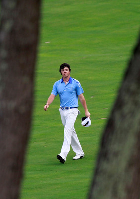 BETHESDA, MD - JUNE 19:  Rory McIlroy of Northern Ireland walks up a fairway during the final round of the 111th U.S. Open at Congressional Country Club on June 19, 2011 in Bethesda, Maryland.  (Photo by Chris Trotman/Getty Images)