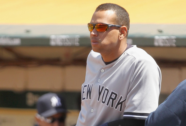 OAKLAND, CA - JUNE 01:  Alex Rodriguez #13 of the New York Yankees in action against the Oakland Athletics at Oakland-Alameda County Coliseum on June 1, 2011 in Oakland, California.  (Photo by Ezra Shaw/Getty Images)