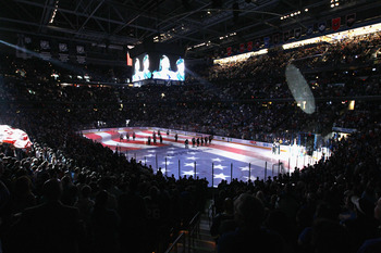 TAMPA, FL - MAY 04: A general view prior to the game between the Tampa Bay Lightning and the Washington Capitals in Game Four of the Eastern Conference Semifinals during the 2011 NHL Stanley Cup Playoffs at the St Pete Times Forum on May 4, 2011 in Tampa,