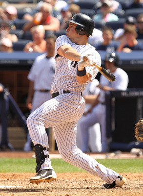NEW YORK, NY - JUNE 30:  Mark Teixeira #25 of the New York Yankees in action against the Milwaukee Brewers during their game on June 30, 2011 at Yankee Stadium in the Bronx borough of New York City.  (Photo by Al Bello/Getty Images)