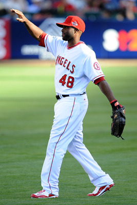 ANAHEIM, CA - JULY 13:  American League All-Star Torii Hunter #48 of the Los Angeles Angels of Anaheim during the 81st MLB All-Star Game at Angel Stadium of Anaheim on July 13, 2010 in Anaheim, California.  (Photo by Lisa Blumenfeld/Getty Images)