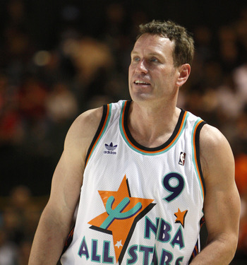 PHOENIX - FEBRUARY 13:  Phoenix Suns legend Dan Majerle plays during the McDonald's All-Star Celebrity Game held at the Phoenix Convention Center on February 13, 2009 in Phoenix, Arizona.  (Photo by Nick Doan/Getty Images)