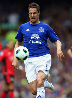 LIVERPOOL, ENGLAND - APRIL 16:  Phil Jagielka of Everton in action during the Barclays Premier League match between Everton and Blackburn Rovers at  Goodison Park on April 16, 2011 in Liverpool, England.  (Photo by Clive Brunskill/Getty Images)