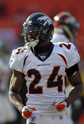 KANSAS CITY, MO - DECEMBER 05:  Champ Bailey #24 of the Denver Broncos during warm-ups prior to the start of the game against the Kansas City Chiefs on December 5, 2010 at Arrowhead Stadium in Kansas City, Missouri.  (Photo by Jamie Squire/Getty Images)