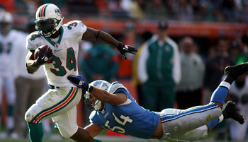 Ricky Williams (No. 34) doesn't need the game. Unfortunately, few teams need him.