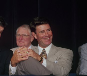 COOPERSTOWN, NY - AUGUST 3: (L) Tom Seaver and Jim Palmer attends the 1997 Hall of Fame Induction Ceremony at Clark Sports Center on August 3.1997 in Cooperstown, New York. ( Photo by: Tomasso Derosa/Getty Images)