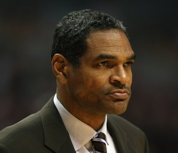 CHICAGO - DECEMBER 02:  Head coach Maurice Cheeks of  the Philadelphia 76ers coaches against the Chicago Bulls at the United Center on December 2, 2008 in Chicago, Illinois.  NOTE TO USER: User expressly acknowledges and agrees that, by downloading and/or