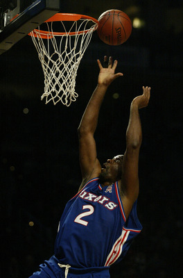 9 Feb 2002:  Moses Malone of the Philadelphia team shoots the ball in the 989 Sports All-Star Hoop-It-Up competition during the Saturday night session  of the NBA All-Star Weekend at the First Union Center in Philadelphia, Pennsylvania. Digital Image NOTE