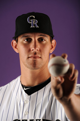 SCOTTSDALE, AZ - FEBRUARY 24:  Christian Friedrich #53 of the Colorado Rockies poses for a portrait during photo day at the Salt River Fields at Talking Stick on February 24, 2011 in Scottsdale, Arizona.  (Photo by Harry How/Getty Images)