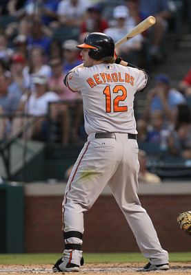 ARLINGTON, TX - JULY 06:  Mark Reynolds #12 of the Baltimore Orioles at Rangers Ballpark in Arlington on July 6, 2011 in Arlington, Texas.  (Photo by Ronald Martinez/Getty Images)