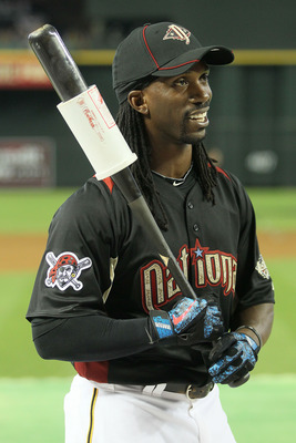 PHOENIX, AZ - JULY 11:  National League All-Star Andrew McCutchen #22 of the Pittsburgh Pirates warms up for batting practice during the Gatorade All-Star Workout Day at Chase Field on July 11, 2011 in Phoenix, Arizona.  (Photo by Jeff Gross/Getty Images)