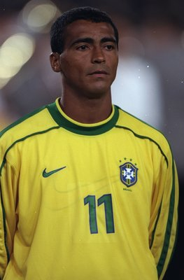 25 Mar 1998:  Portrait of Romario of Brazil before the International friendly against Germany at the Neckarstadion in Stuttgart in Germany. Brazil won 2-1. \ Mandatory Credit: Mark Thompson /Allsport
