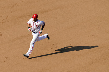 WASHINGTON, DC - JULY 02:  Rick Ankiel #24 of the Washington Nationals rounds the bases after hitting a home run in the seventh inning against the Pittsburgh Pirates at Nationals Park on July 2, 2011 in Washington, DC.  (Photo by Greg Fiume/Getty Images)