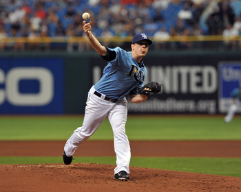 ST. PETERSBURG, FL - JULY 3:  Pitcher Jeremy Hellickson #58 of the Tampa Bay Rays  starts against the St. Louis Cardinals July 3, 2011 at Tropicana Field in St. Petersburg, Florida.  (Photo by Al Messerschmidt/Getty Images)