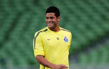 DUBLIN, IRELAND - MAY 17:  Hulk of FC Porto smiles during a FC Porto training session ahead of their UEFA Europa League Final against SC Braga at The Dublin Arena on May 17, 2011 in Dublin, Ireland.  (Photo by Jamie McDonald/Getty Images)