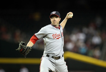PHOENIX, AZ - JUNE 02:  Relief pitcher Sean Burnett #17 of the Washington Nationals pitches against the Arizona Diamondbacks during the Major League Baseball game at Chase Field on June 2, 2011 in Phoenix, Arizona. The Nationals defeated the Diamondbacks
