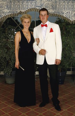 STRAFFAN, IRELAND - SEPTEMBER 20:  Henrik Stenson and Emma Lofgren pose for a photograph before the Gala Dinner of the 36th Ryder Cup at the K Club on September 20, 2006 in Straffan, Ireland.  (Photo by David Cannon/Getty Images)