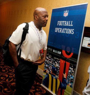 NEW ORLEANS, LA - MARCH 21: Chicago Bears head coach Lovey Smith attends the NFL Annual Meetings at the Roosevelt Hotel on March 21, 2011 in New Orleans, Louisiana. Despite a NFL owners imposed lockout in effect since March 12 the league is conducting its