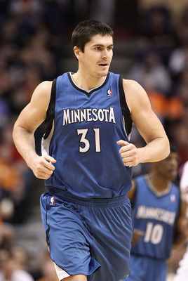 PHOENIX - DECEMBER 15:  Darko Milicic #31 of the Minnesota Timberwolves during the NBA game against the Phoenix Suns at US Airways Center on December 15, 2010 in Phoenix, Arizona.  The Suns defeated the Timberwolves 128-122.  NOTE TO USER: User expressly
