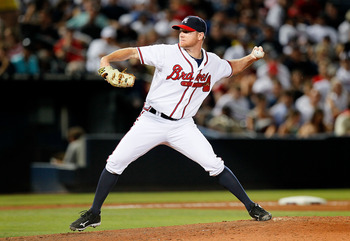 ATLANTA - JUNE 17:  Pitcher Johnny Venters #39 of the Atlanta Braves pitches against the Tampa Bay Rays at Turner Field on June 17, 2010 in Atlanta, Georgia.  (Photo by Kevin C. Cox/Getty Images)