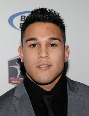 LAS VEGAS, NV - DECEMBER 01:  Mixed martial artist Brad Tavares arrives at the third annual Fighters Only World Mixed Martial Arts Awards 2010 at the Palms Casino Resort December 1, 2010 in Las Vegas, Nevada.  (Photo by Ethan Miller/Getty Images)