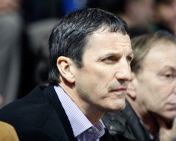 MONTREAL- JANUARY 14:  Former Dallas Stars and Montreal Canadiens player Guy Carbonneau watches the NHL game between the Dallas Stars and Montreal Canadiens on January 14, 2010 at the Bell Centre in Montreal, Quebec, Canada.  The Canadiens defeated the St