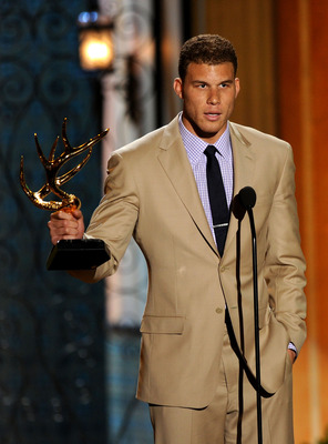 CULVER CITY, CA - JUNE 04:  Professional basketball player Blake Griffin accepts the Rookie of the Year award onstage during Spike TV's 5th annual 2011 'Guys Choice' Awards at Sony Pictures Studios on June 4, 2011 in Culver City, California.  (Photo by Ke