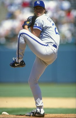 20 Jun 1993:  Pitcher Mark Gubicza #23 of the Kansas City Royals in his wind up during a game against the Oakland Athletics at the Oakland Coliseum in Oakland, California. Mandatory Credit: Otto Greule Jr.  /Allsport