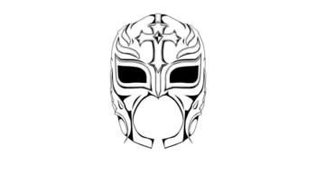The gallery for rey mysterio mask drawing for Wwe rey mysterio mask coloring pages