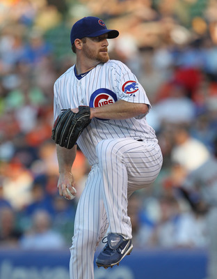 CHICAGO, IL - JUNE 29:  Starting pitcher Ryan Dempster #46 of the Chicago Cubs delivers the ball against the San Francisco Giants at Wrigley Field on June 29, 2011 in Chicago, Illinois.  (Photo by Jonathan Daniel/Getty Images)