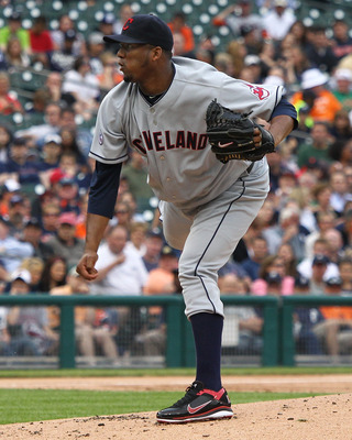 DETROIT, MI - JUNE 15:  Starting pitcher Fausto Carmona #55 of the Cleveland Indians pitches during a MLB game against the Detroit Tigers at Comerica Park on June 15, 2011 in Detroit, Michigan.  (Photo by Dave Reginek/Getty Images)