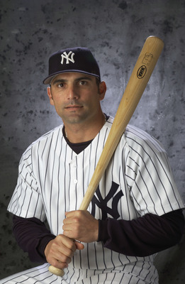 20 Feb 2002:   A portrait of Yankees''  inf F. P. Santangelo #18 taken during the New York Yankees'' Media Day at Legends Field in Tampa, Florida.DIGITAL IMAGE Photographer:  M. David Leeds/Getty Images