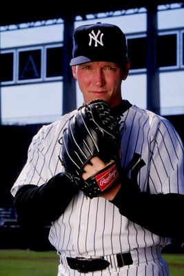 26 Feb 1999:  Pitcher David Cone #36 of the New York Yankees poses for the camera on Photo Day during Spring Training at Legends Field in Tampa, Florida. Mandatory Credit: Vincent Laforet  /Allsport