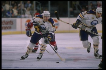 1989-1990:  Center Pierre Turgeon of the Buffalo Sabres. Mandatory Credit: Rick Stewart  /Allsport