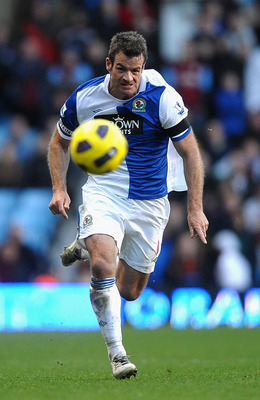 BIRMINGHAM, ENGLAND - FEBRUARY 26: Ryan Nelsen of Blackburn Rovers in action during the Barclays Premier League match between Aston Villa and Blackburn Rovers at Villa Park on February 26, 2011 in Birmingham, England.  (Photo by Laurence Griffiths/Getty I