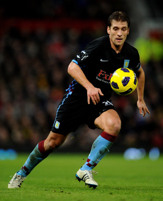 MANCHESTER, ENGLAND - FEBRUARY 01:   Stiliyan Petrov of Aston Villa in action during the Barclays Premier League match between Manchester United and Aston Villa at Old Trafford on February 1, 2011 in Manchester, England.  (Photo by Clive Mason/Getty Image