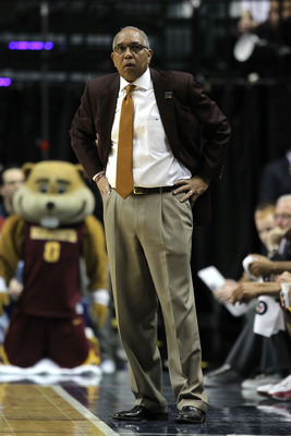 INDIANAPOLIS, IN - MARCH 10:  Head coach Tubby Smith of the Minnesota Golden Gophers looks on against the Northwestern Wildcats during the first round of the 2011 Big Ten Men's Basketball Tournament at Conseco Fieldhouse on March 10, 2011 in Indianapolis,