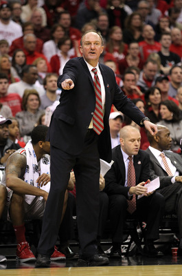 CLEVELAND, OH - MARCH 20:  Head coach Thad Matta of the Ohio State Buckeyes reacts on the bench during the game against the George Mason Patriots during the third of the 2011 NCAA men's basketball tournament at Quicken Loans Arena on March 20, 2011 in Cle