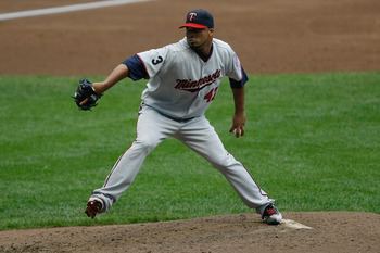 MILWAUKEE, WI - JUNE 25: Francisco Liriano #47 of the Minnesota Twins pitches against the Milwaukee Brewers at the Miller Park on June 25, 2011 in Milwaukee, Wisconsin. (Photo by Scott Boehm/Getty Images)