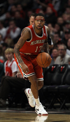 CHICAGO, IL - DECEMBER 28: Chris Douglas-Roberts #17 of the Milwaukee Bucks controls the ball against the Chicago Bulls at the United Center on December 28, 2010 in Chicago, Illinois. The Bulls defeated the Bucks 90-77. NOTE TO USER: User expressly acknow