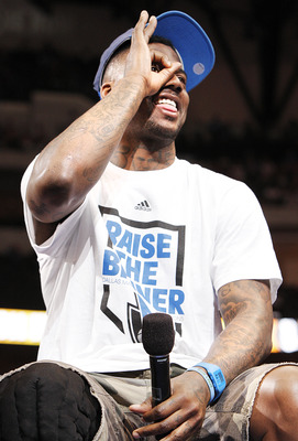 DALLAS, TX - JUNE 16: Guard DeShawn Stevenson of the Dallas Mavericks during the Dallas Mavericks Victory celebration on June 16, 2011 in Dallas, Texas. (Photo by Brandon Wade/Getty Images)